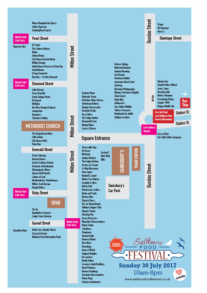 Saltburn Food Festival 2017 Map