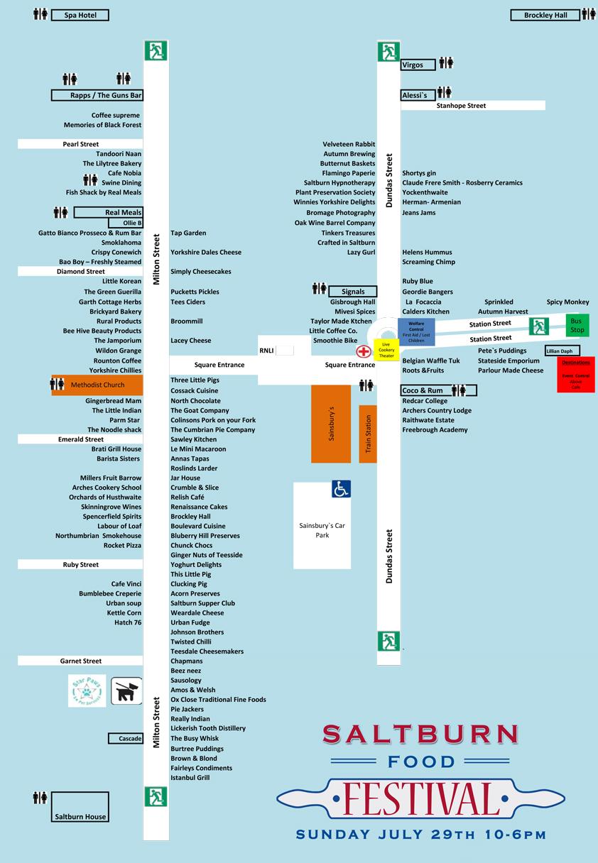 Saltburn Food Festival 2018 Map