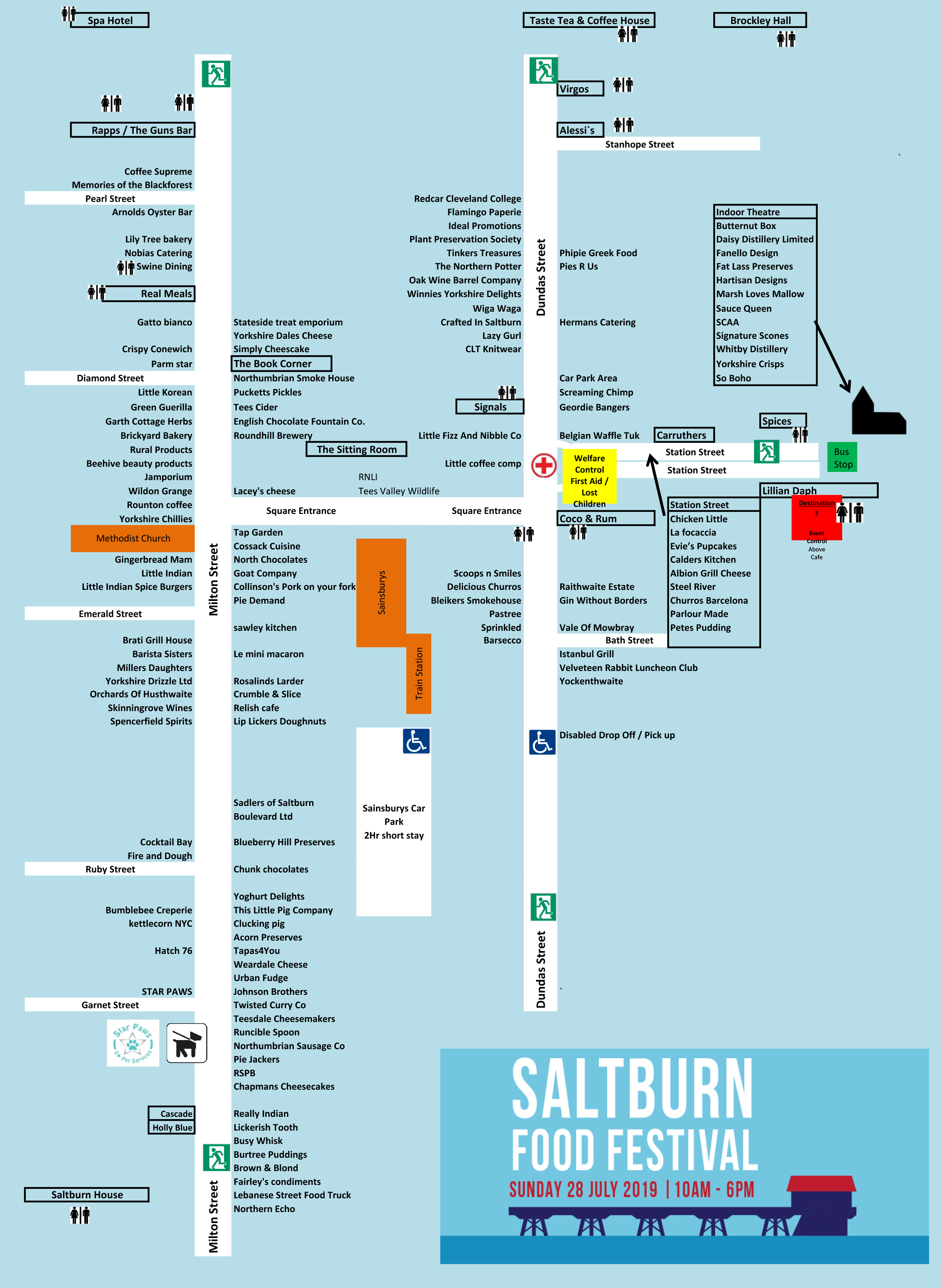 Saltburn Food Festival 2018 Map